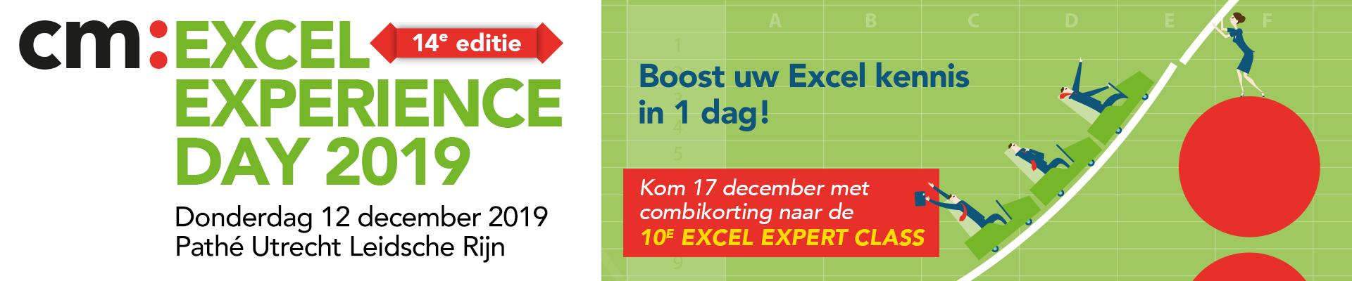 cm: Excel Experience Day en/of Excel Expert Class 2018
