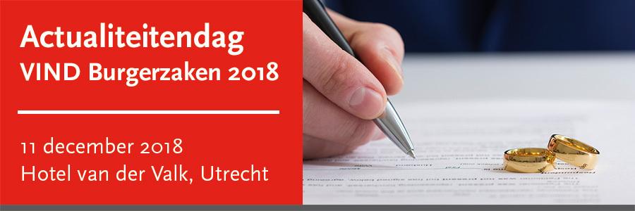 Actualiteitendag VIND Burgerzaken 2018