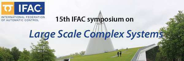 15th IFAC Symposium on Large Scale Systems