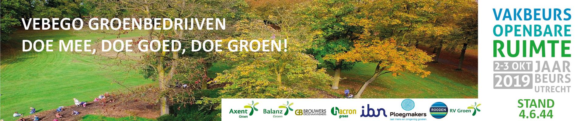 Vebego Groenbedrijven; doe mee, doe goed, doe groen!
