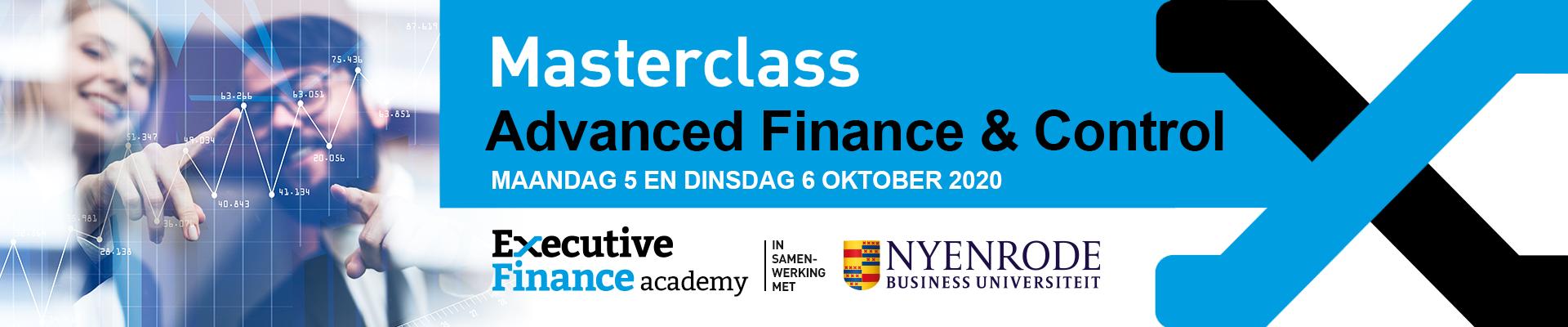 Masterclass Advanced Finance & Control najaar 2020