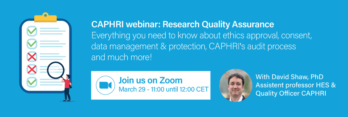 CAPHRI webinar Research Quality Assurance