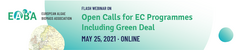 Open calls for EC Programmes including Green Deal