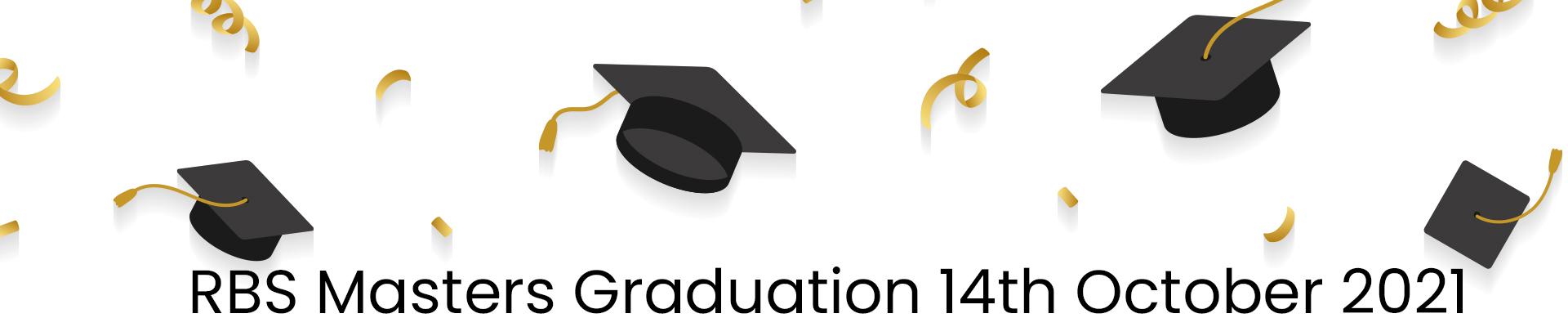 Master Graduation Ceremony October 14 2021