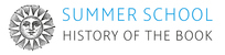 Summer School History of the Book 2016
